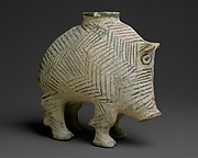 Vessel in the form of a boar