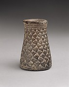 Vase with basket-weave pattern