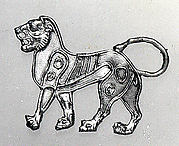 Applique in the shape of a lion