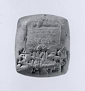 Cuneiform tablet impressed with cylinder seal: receipt of a dead sheep