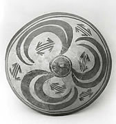 Bowl with radial design of ibex horns