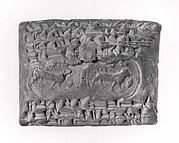 Cuneiform tablet case impressed with stamp seal, for cuneiform tablet 54.117.27b: loan of silver