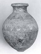 Jar with geometric decoration
