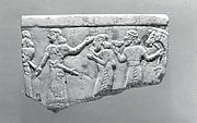Bowl fragment with a procession