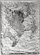 Fragment of wall painting: male head
