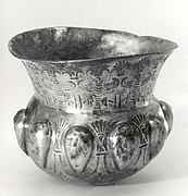 Lobed vessel with a frieze of falcons