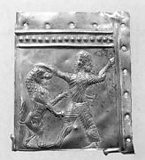 Panel fragment with a lion hunt