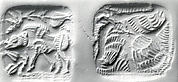 Double-sided stamp seal and modern impression: striding boar; vulture
