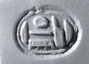 Scaraboid seal with relief of udjat eye