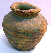 Small pot with remnants of green glaze