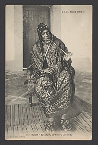 Bhanzin, former king of Dahomey [r. 1889-94]
