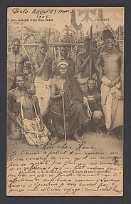 His Highness Gi-Gia, king of Allada, and his advisers