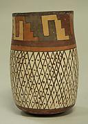 Tall Jar with Crosshatch Designs