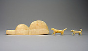Walrus Ivory Igloo and Dogs