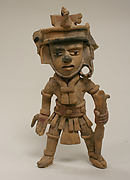 Ceramic Standing Warrior Figure