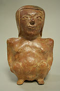 Ceramic Seated Female Figure