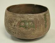 Greyware Bowl with Incised Monkeys