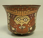 Bowl with Painted Trophy Head Designs