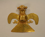 Cast Gold Eagle Pendant