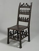Chair: Rungs with Figurative Scenes (Ngundja)