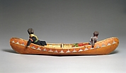 Canoe Model with Dolls