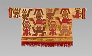 Tunic with Crescent Headdress Figures and Felines