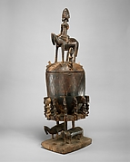 Lidded Vessel: Equestrian Figure