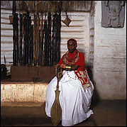 Chief Nosa Isekhure, the isekhure of Benin, Benin City, Nigeria