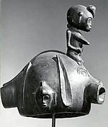 Helmet Mask with Female Figure