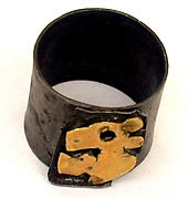 Silver Ring with Gold Animal