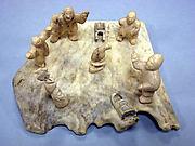 Antler Horn Group Carving