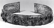 Hammered Silver Diadem with Dangles