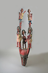 Marionette: Antelope Head with Five Figures