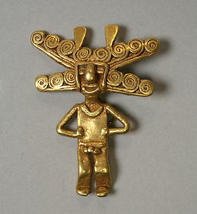 Gold Figure Pendant