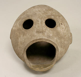Ceramic Monkey Head Vessel