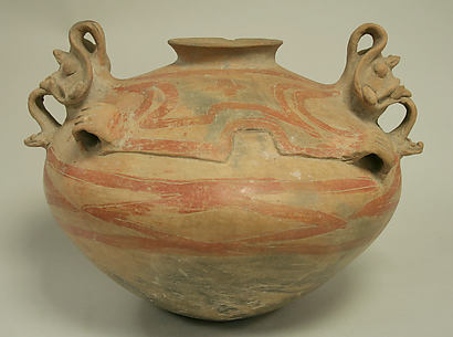 Painted Bowl with Lugs and Faces