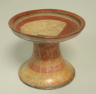 Painted Pedestal Bowl