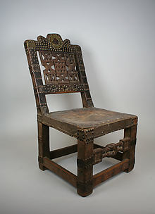 Chair with Openwork Back