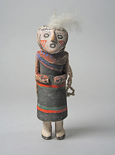 Katsina doll with white feather tuft