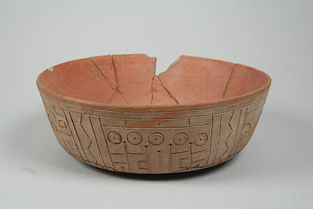 Incised bowl with fox motif