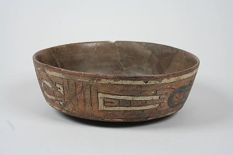 Incised bowl with birds