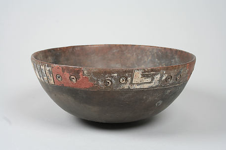 Painted bowl with geometric patterns