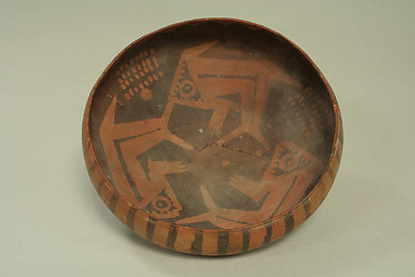Orangeware Bowl with Fish Design