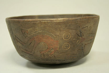 Bowl with Trophy Head Design