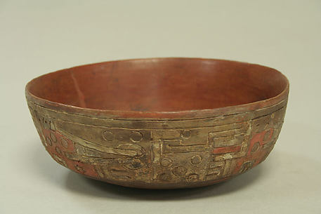 Incised Painted Bowl with Fox Motif