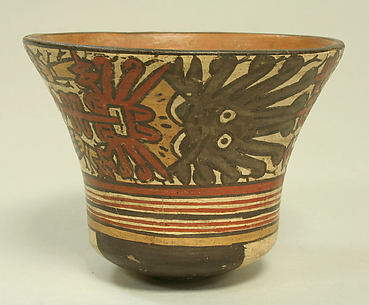 Painted Flared Bowl with Deity