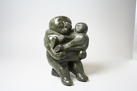 Stone Mother and Child Figure