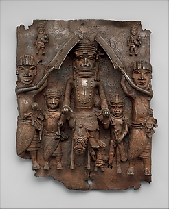 Plaque: Equestrian Oba and Attendants