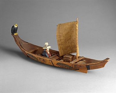 Canoe Model with sail
