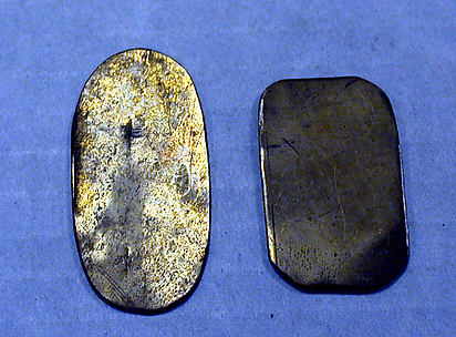 Hammered Brass Oval